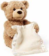 Kiekeboe Beer - Teddybeer - Interactieve knuffel - Peek-A-Boo - Hide and Seek - 30 cm
