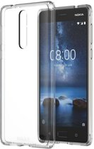 Nokia 8 Transparant Siliconen Gel TPU / Back Cover / Hoesje