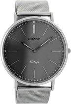 OOZOO Vintage C7382-  Horloge - Zilverkleurig - 44 mm