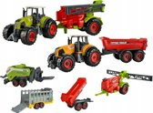 XL Tractor Met Aanhanger Speelset - Landbouw Boerderij Voertuigen Speel Traktor Set