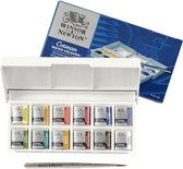Winsor & Newton Cotman Aquarelverf Sketchers Pocket Box 12 halve napjes + penseel