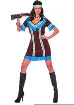 Indiaan Kostuum   Indiaanse Tenderfoot De Jager   Vrouw   Maat 46   Carnaval kostuum   Verkleedkleding