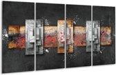 Glasschilderij Modern | Grijs, Zwart | 160x80cm 4Luik | Foto print op Glas |  F005839