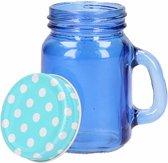 Mini jampotje blauw 120 ml