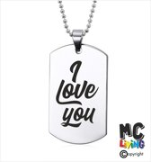 Ketting RVS - I Love You