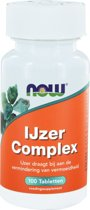 NOW IJzer Complex - 100 Tabletten  - Mineralen