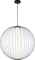 Lucide CARBONY - Hanglamp - LED - 1x10W 2700K - Zwart
