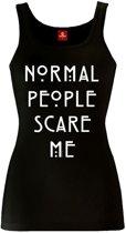 AHS - Normal People Scare Me dames mouwloze top zwart - S - American Horror Story