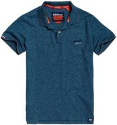 Superdry Orange Label Jersey Sportpolo - Maat L  - Mannen - blauw