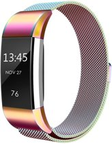 Milanese Horloge Band 42MM Voor Fitbit Charge 2 - Watchband Voor iWatch - Armband Roestvrij Staal - Colorful