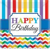 Amscan Feestborden Bright Birthday 17,7 X 17,7 Cm 8 Stuks