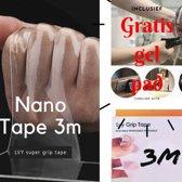 Nano Tape - Hoge kwaliteit herbruikbare en Wasbare Tape – Dubbelzijdige 3 meter Tape