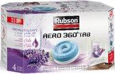 Rubson AERO 360 Navulling Vochtopnemer Vochtvanger Vochtwering - 4 pcs - Lavendel