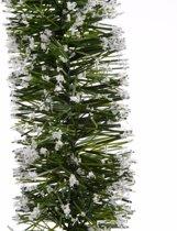 Kerstslinger guirlande groen met sneeuw 200 cm