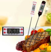 Vleesthermometer Digitaal - BBQ Thermometer - Voedselthermometer - Zwart - Voor Grill, Barbecue, Oven & Meer