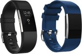 YONO Siliconen bandjes - Fitbit Charge 2 - 2-pack - Small