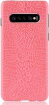 Mobigear Shockproof Krokodil Hoesje Roze Samsung Galaxy S10 Plus