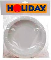 Holiday bord 22cm per 4 stuks kleur wit (By Mepal)