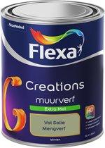 Flexa Creations - Muurverf Extra Mat - Vol Salie - Mengkleuren Collectie- 1 Liter