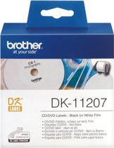 DK-11207 Die-Cut label: 58mm - CD/DVD label - white (100 labels/roll)