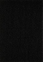 Hoogpolig Shaggy Vloerkleed Loca 200x200 CM Vierkant - Zwart