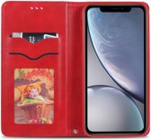 Apple iPhone XR Retro Portemonnee Hoesje Rood