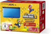Nintendo 3DS XL, Console (Black / Blue) + New Super Mario Bros 2  3DS XL