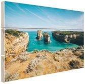 De eilandboog Hout 60x40 cm - Foto print op Hout (Wanddecoratie)
