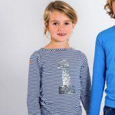 Longsleeve streep meisjes met  zilveren pailetten