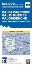 IGC Italien 1 : 25 000 Wanderkarte 102 Valsavarenche