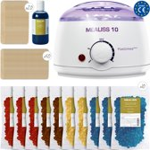 Epilatie Set - KIT MEALISS®10 DELUXE - wax ontharen - 1000gr wax - 250ml olie