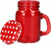 Mini deco potje rood 120 ml
