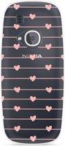 Nokia 3310 (2017) Hoesje Pink Love
