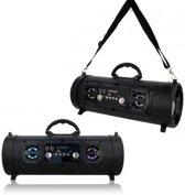 Draagbare Bluetooth Tube Speaker Karaoke Radio Aux SD USB LED