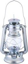 Windlicht / olielamp zilver 24 cm hoog (10 uur)