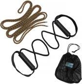 #DoYourFitness - Suspension Trainer van touw - »Agathon« - Slingtrainer - Rubberen grip, karabijnhaakbevestiging, incl. transporttas.