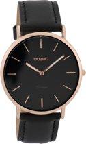 OOZOO Vintage C9318 - Zwart - Rosé - 40mm