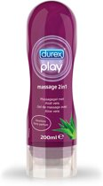 Durex Play Massage 2 in 1 Massagegel met Aloë vera - Glijmiddel - 200 ml