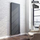 Dubbele Designradiator Vlak Thera Premium Verticaal Antraciet - 180 x 60.8 cm