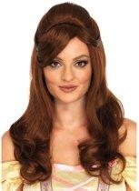 Storybook Beauty golvende pruik bruin - Kostuum Party Disney - Leg Avenue