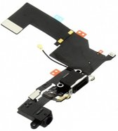 Laad Connector/Microfoon/hoofdtelefoon Flex Kabel - Telefoon Reparatie Onderdeel - Geschikt voor iPhone 5S - Zwart