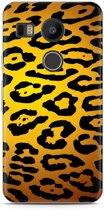 LG Nexus 5X Hoesje Luipaard Goud Zwart
