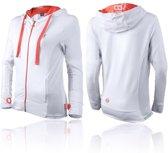 Boxeur des Rues Sweatshirt with Thumb Openings - White Orange-XS