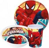 Spiderman - kinderservies van melamine - 3-delig