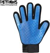 PetPaws - Hond en Kat Vachtverzorgingshandschoen - Blauw