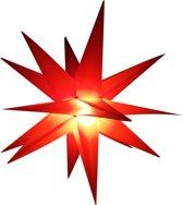 LED Kerstster rood, Adventster, kerstverlichting voor buitengebruik