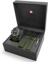 Swiss Military Hanowa 06-8279.13.007SET quartz  groen - nato band 10 ATM (zwemmen)
