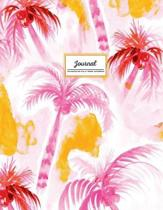 Journal - Watercolor Palm Trees Notebook
