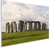 Vogels op de stenen bij de Stonehenge Plexiglas 30x20 cm - klein - Foto print op Glas (Plexiglas wanddecoratie)