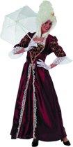 Markiezin taft jurk middeleeuwen bordeaux Maat 42